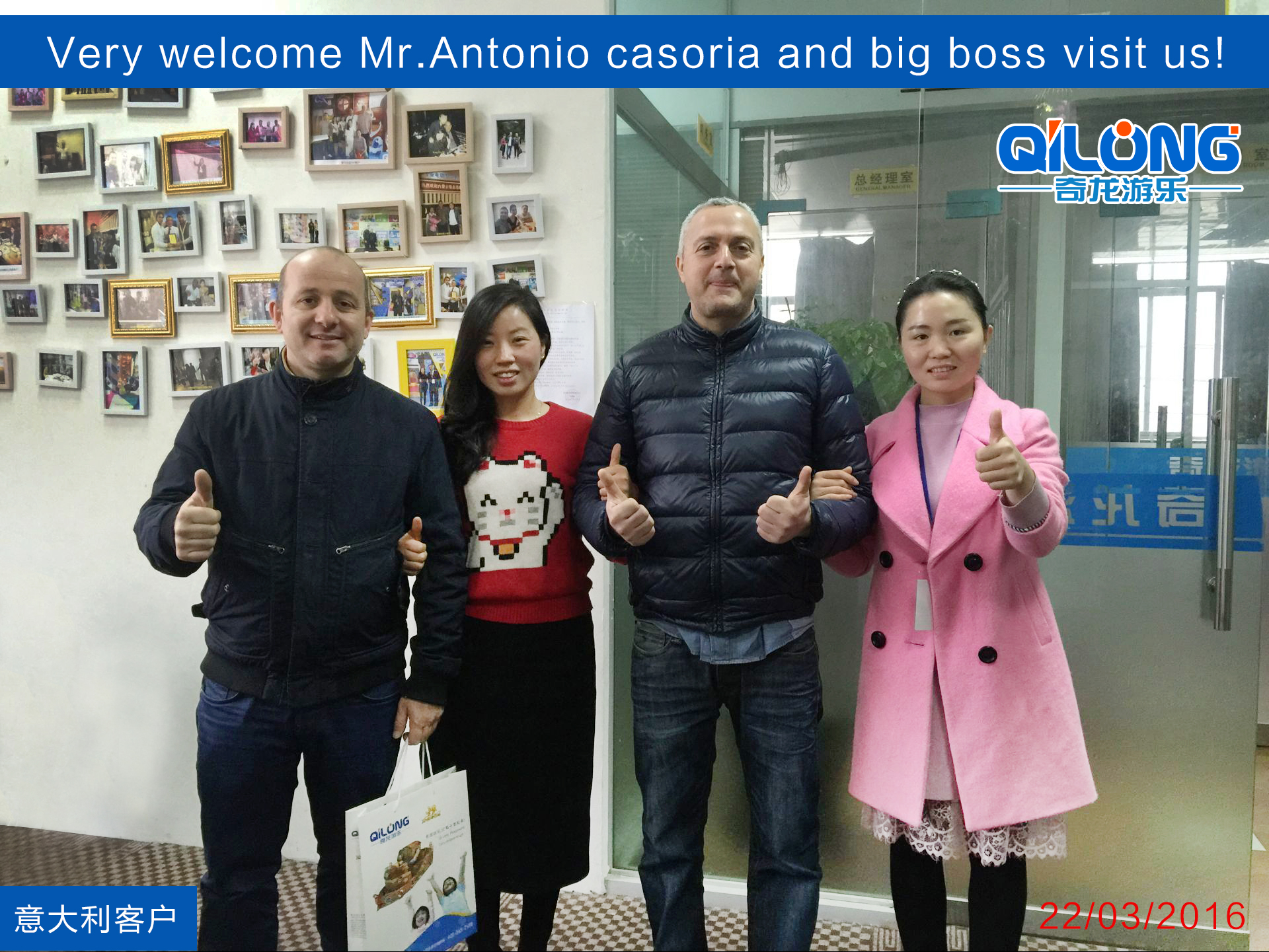 Italy customers visit us which met us on Guangzhou Fair.