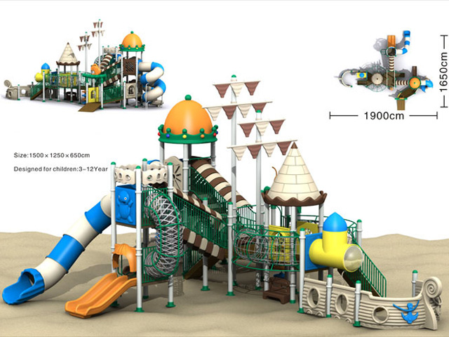 Steel Frame Material and Outdoor Playground