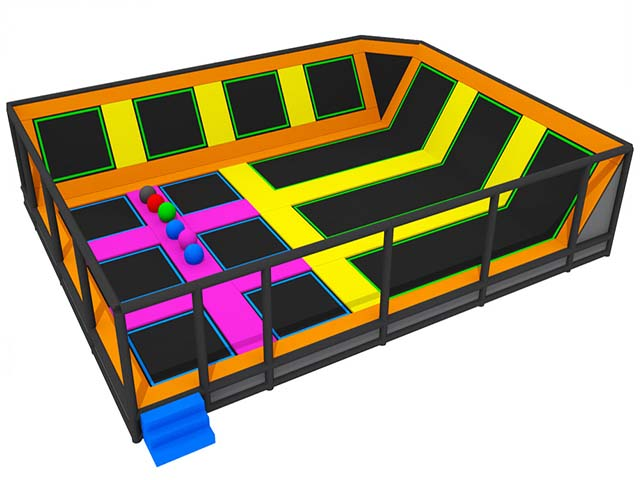 China Factory Acrobatics Equipment Jump Pad Roof Cover Trampoline Park