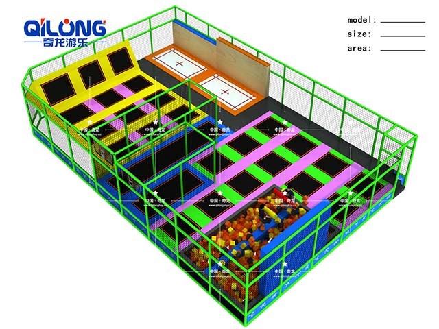 China Supplier High quality durable bed indoor trampoline park for sale