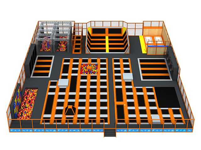 Fashion large trampoline inflatables foam pool big indoor trampoline park with foam pit