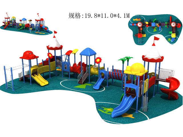 Wood outdoor playgrounds