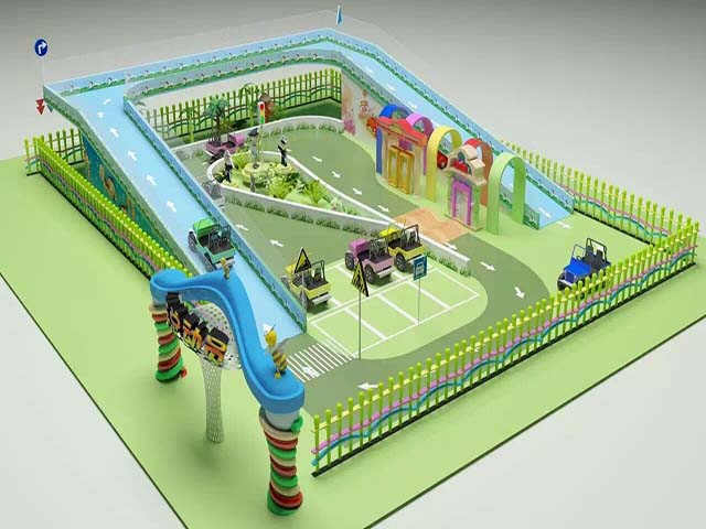 Mini traffic town playground