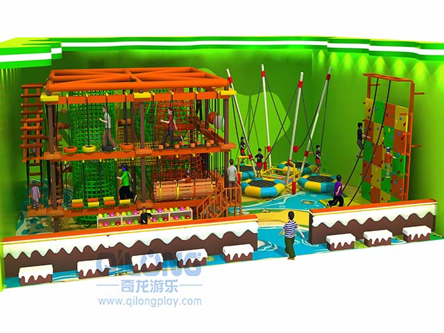 Indoor rope course playground for sale