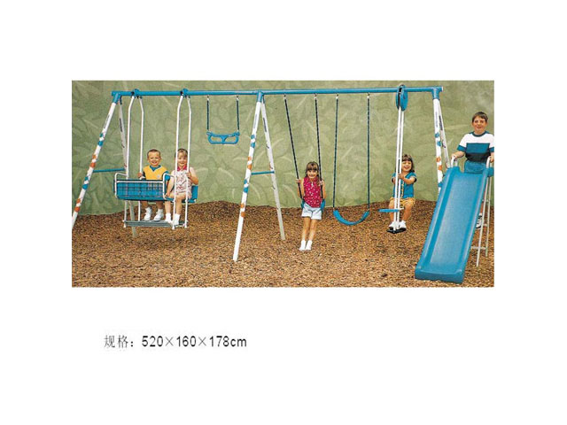 swings at amusement park