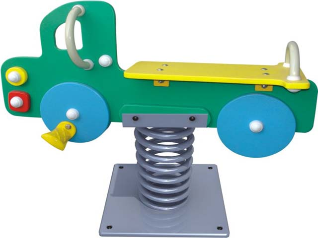 outdoor playground spring seesaw