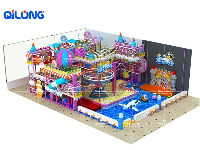 Candy soft indoor playground for kids