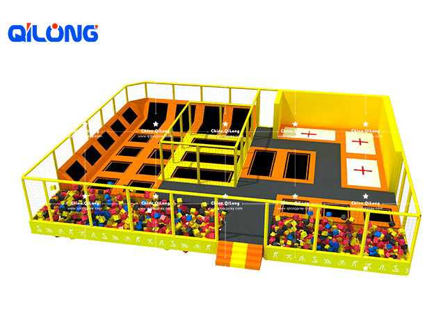 Indoor kids fitness big trampoline park indoor trampoline park