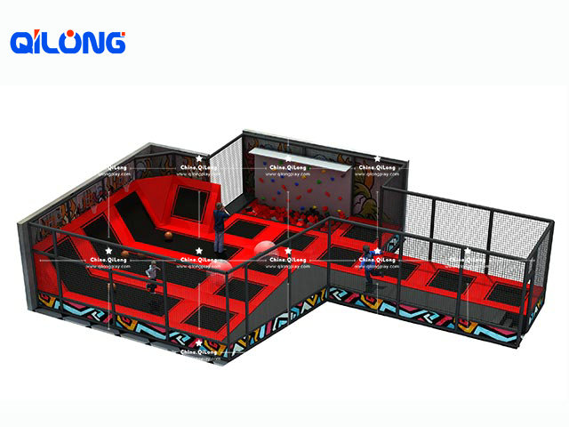 Professional colorful best commercial use indoor trampoline park