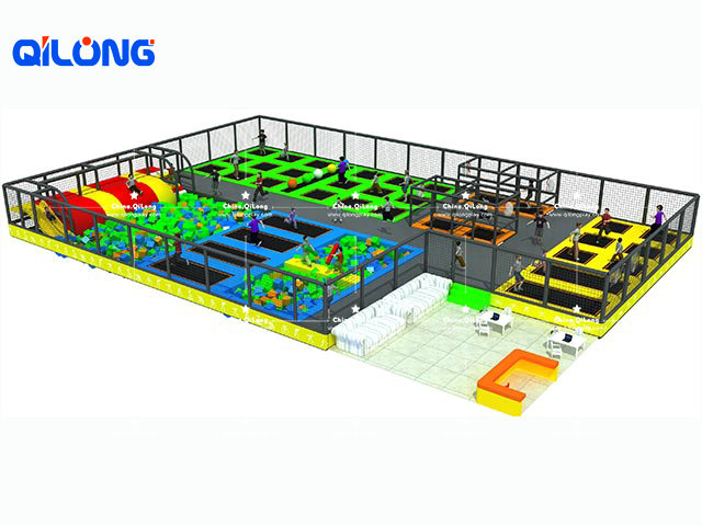 Commercial multifunction ninja course indoor and outdoor funny trampoline park