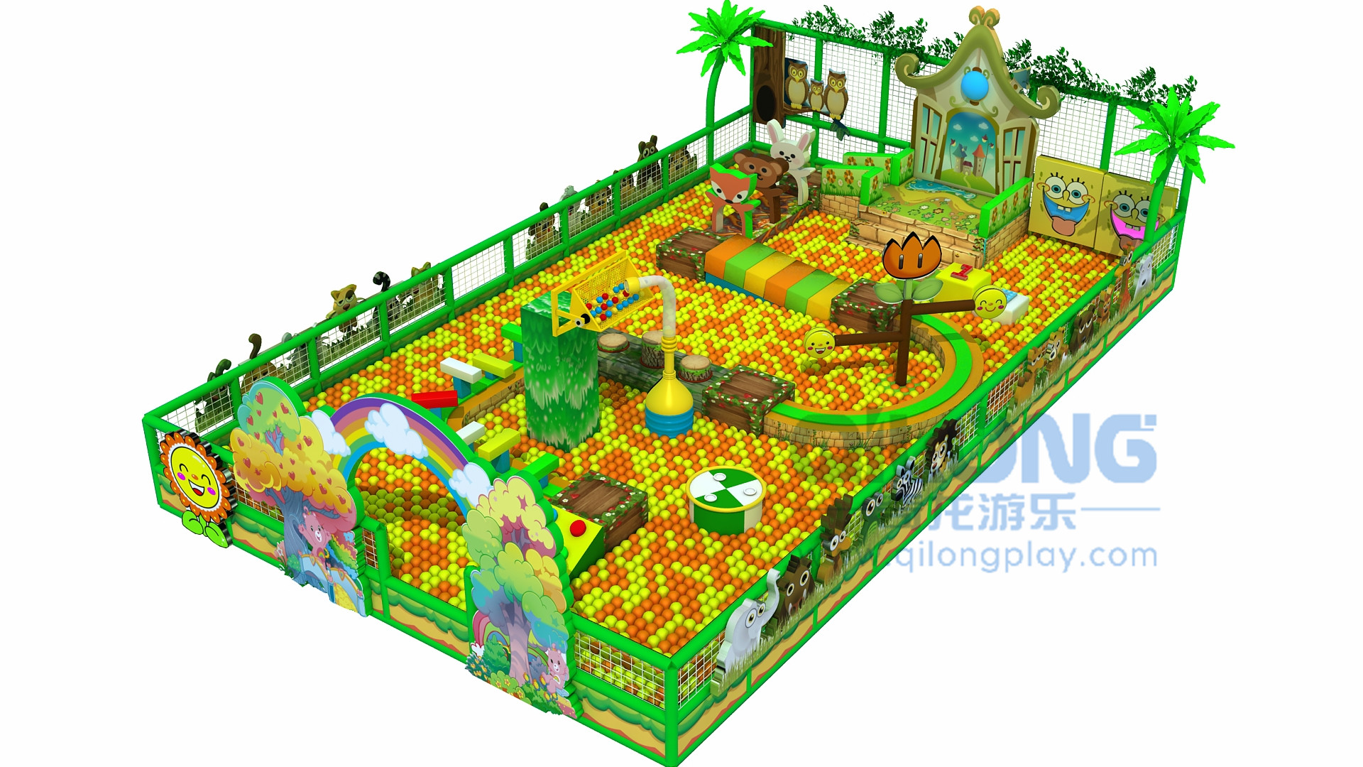 Indoor playground kids adventure playground-QL-CG002A