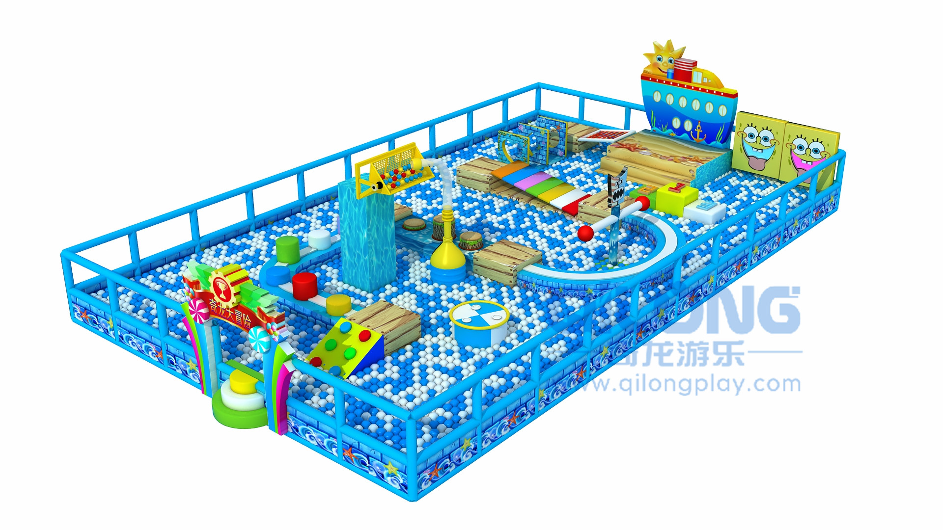 Kids adventure indoor playground-QL-CG003A