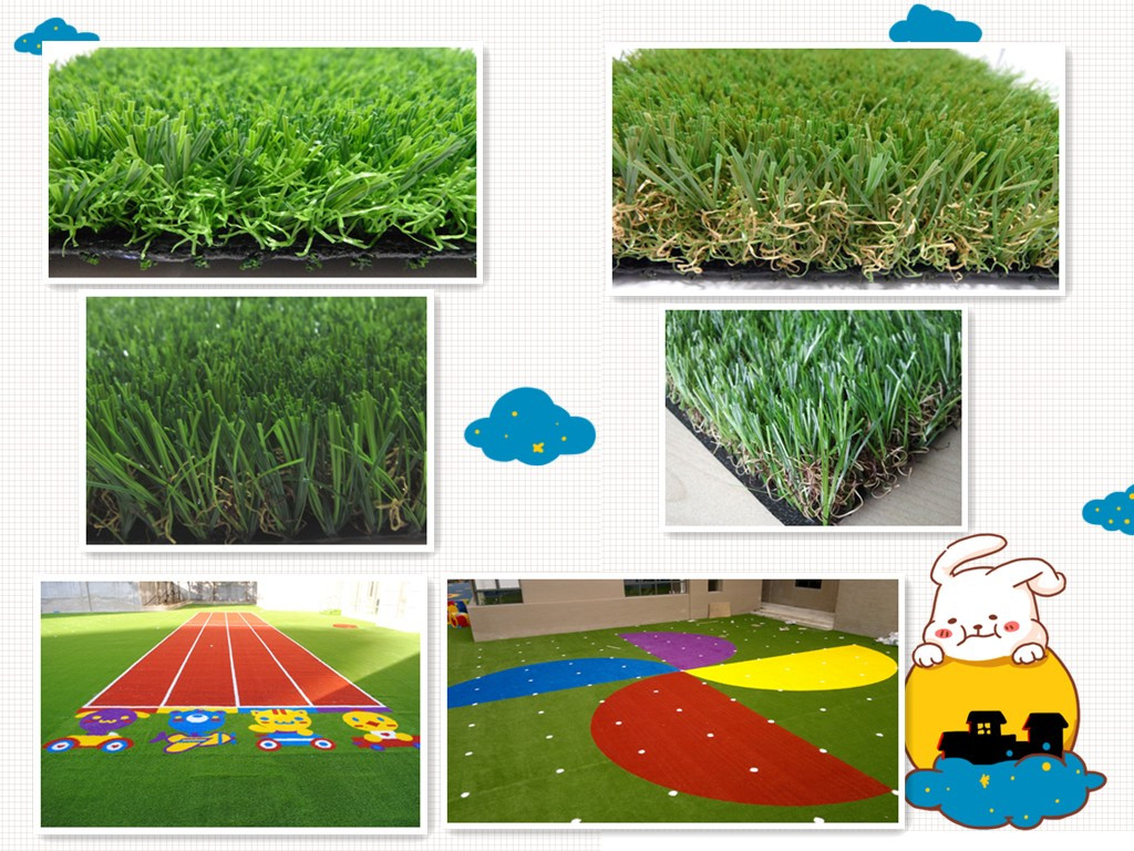 Grass mats for playground
