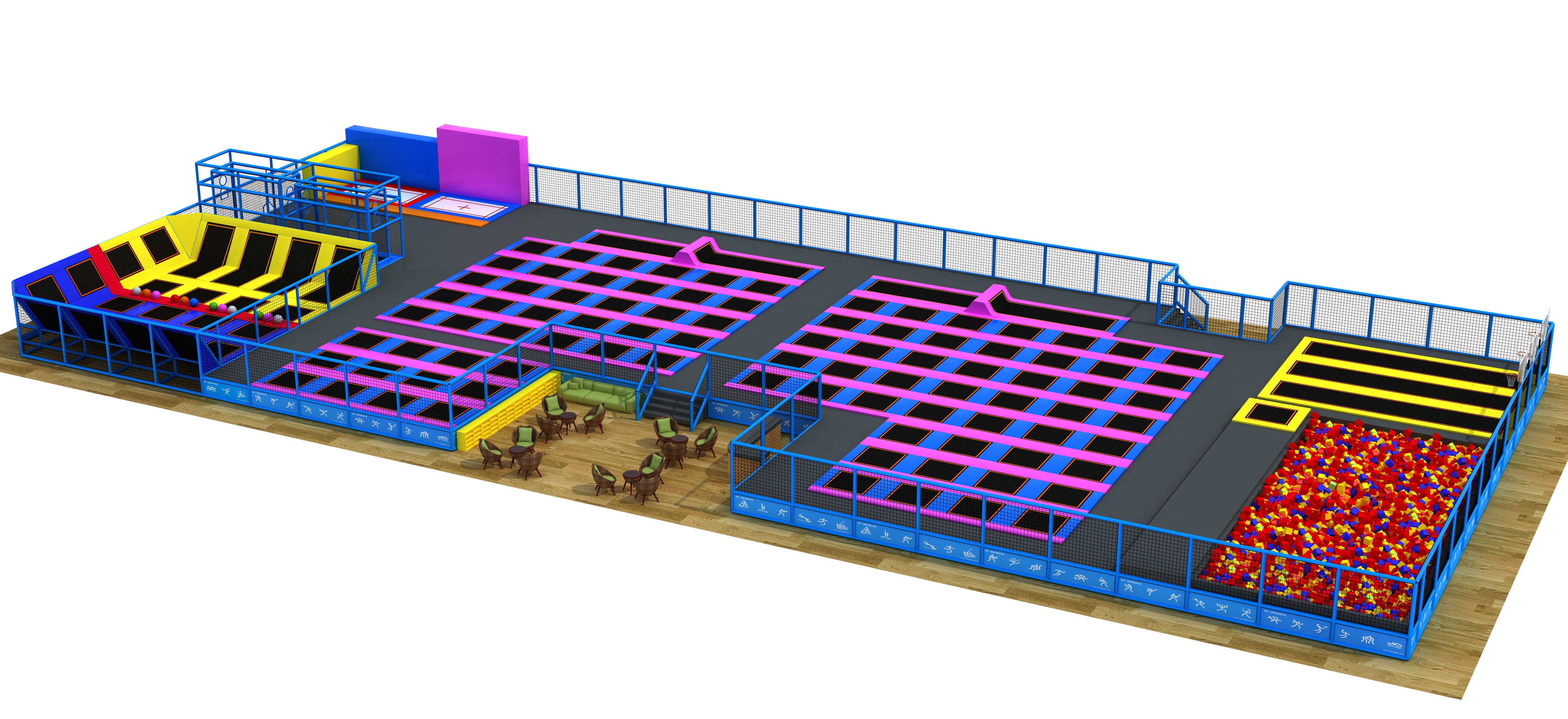 Trampoline Park Air Jumping Zone