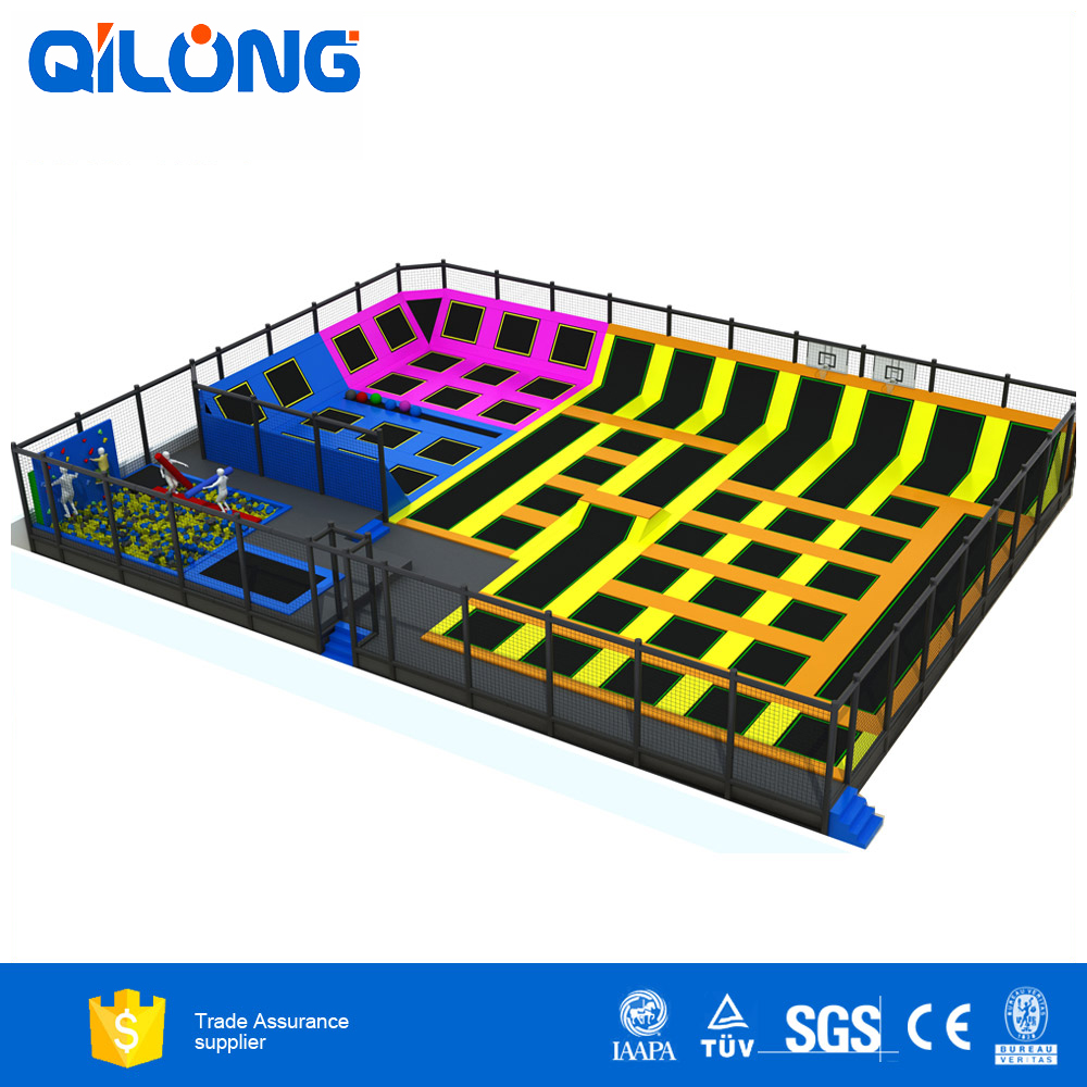 Kids indoor playground small jumping bed-QL-DBC016A