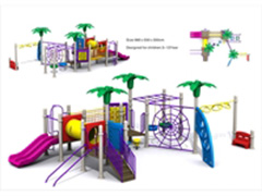 outdoor playground swing with slide