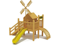 outdoor slide and playhouse