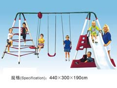 childrens swings and slide