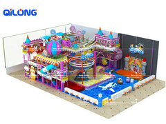 QL-7021A Candy soft playground for kids