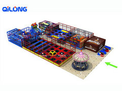 QL-7194A trampoline playground equipment