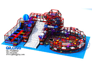 Attractive design kids play center inside soft toys indoor playground