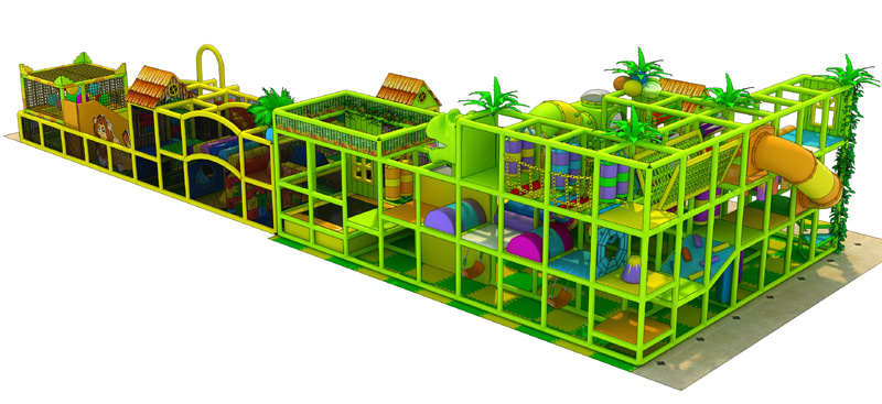 Green indoor playground play