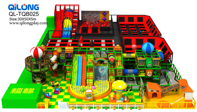 Factory custom kids digital playground models ground mat children indoor playground