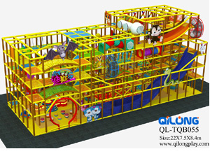 Soft play plastic slide indoor playground children playground equipment
