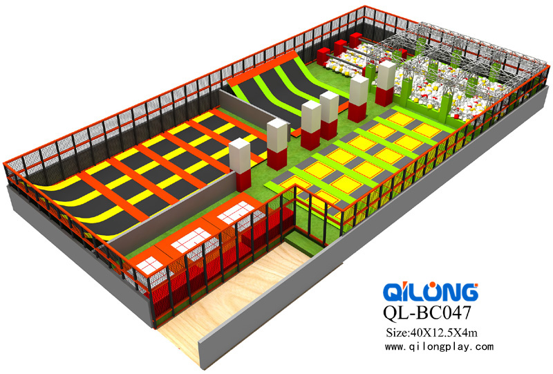 Commercial foam pit kids indoor trampoline park