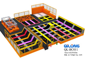 large trampoline with foam pit funny amusement indoor trampoline park