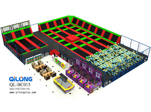 Large Cheap Indoor Foam Pit Trampoline Park, Large Dodgeball Trampoline Indoor