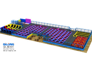 Indoor jumping bed trampoline park for kids and teenagers