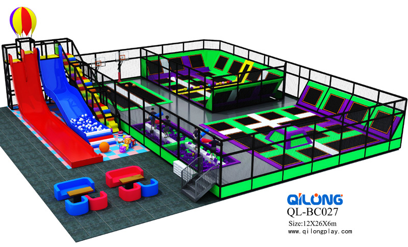 China factory TUV/ASTM/CE standard ISO9001 quality control outdoor indoor trampoline park
