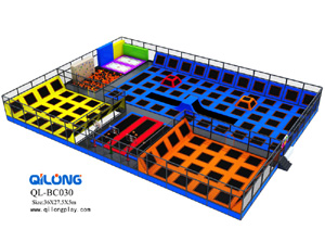 Professional Custom Children Indoor Amusement Bungee Trampoline Park