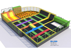 Professional Children fitness amusement equipment indoor trampoline park