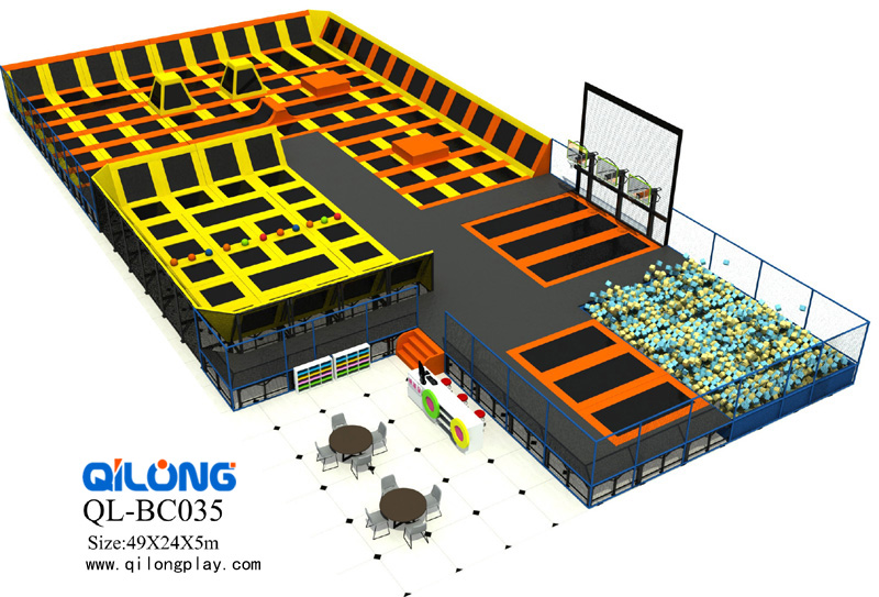2018 new business plan trampoline park indoor jumping bed for kids