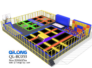 Factory price New design indoor trampoline park, commercial trampoline indoor