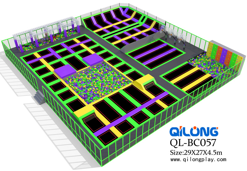 Hot Sale Colorful Commercial Indoor Trampoline Park