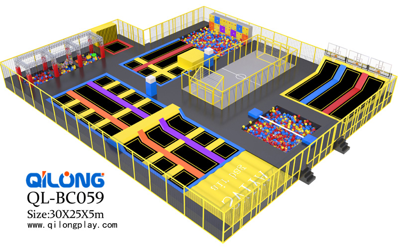 hot sale square trampoline indoor trampoline park
