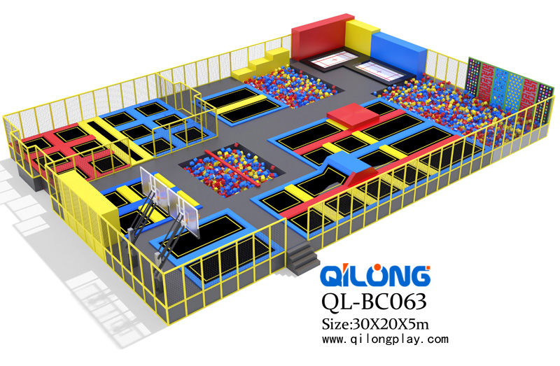 2018 New Bungee Trampoline Park And Trampoline Bed