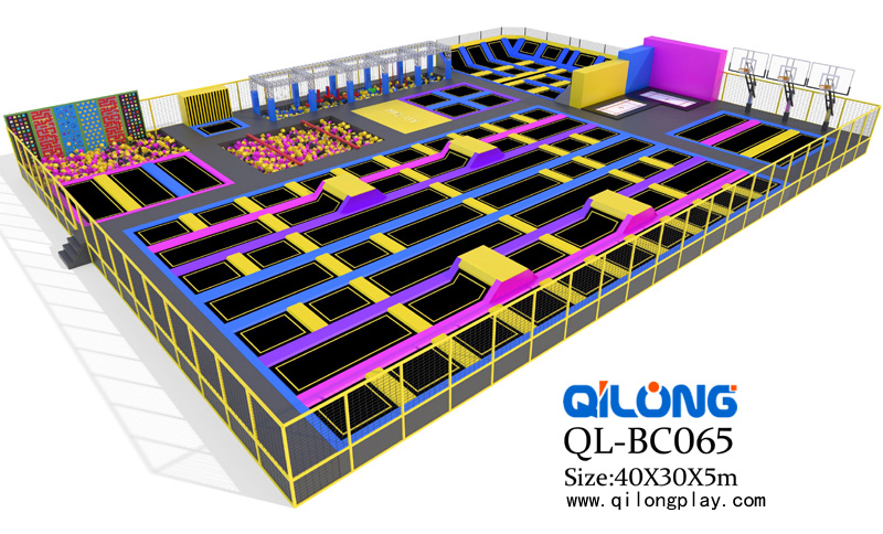 New Design indoor Gymnastic Trampoline Park with Customized Design