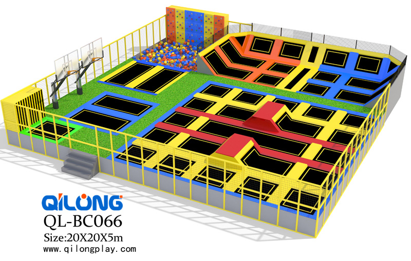 Multi-size play area exciting and attractive super popular bed trampoline park