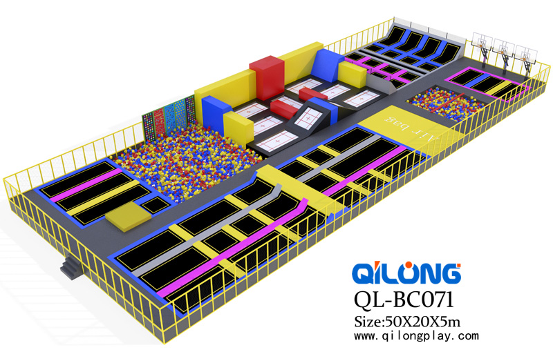 Wholesale Cheap CE Approval Safe Big Commercial Trampoline park indoor