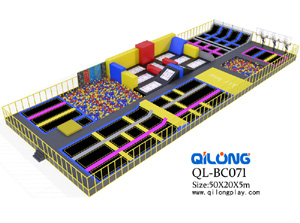 Professional customized colorful big indoor equipment commercial trampoline park