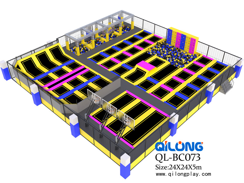 Hot Most Industrial Outdoor Trampoline ,Commercial Trampoline Park For Sale