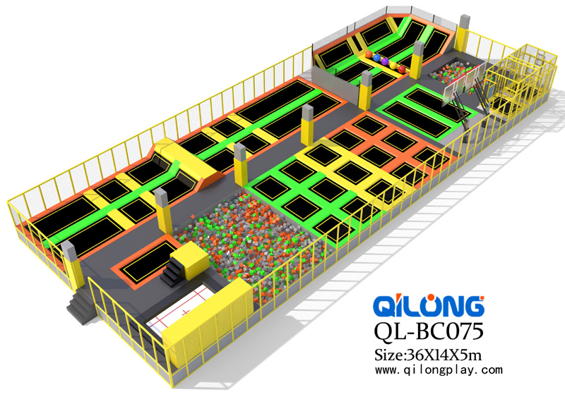Colorful Commercial amusement trampoline park for Indoor