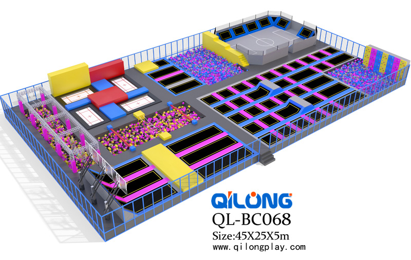 China manufacturer commercial sky zone indoor trampoline park with foam pit sponge pool,ninja course for sale