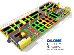 High Quality Large Indoor Amusement Trampoline Park