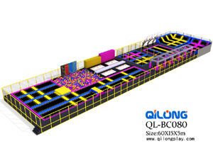 factory hot sale elastic soft indoor park trampoline with games, business plan trampoline park
