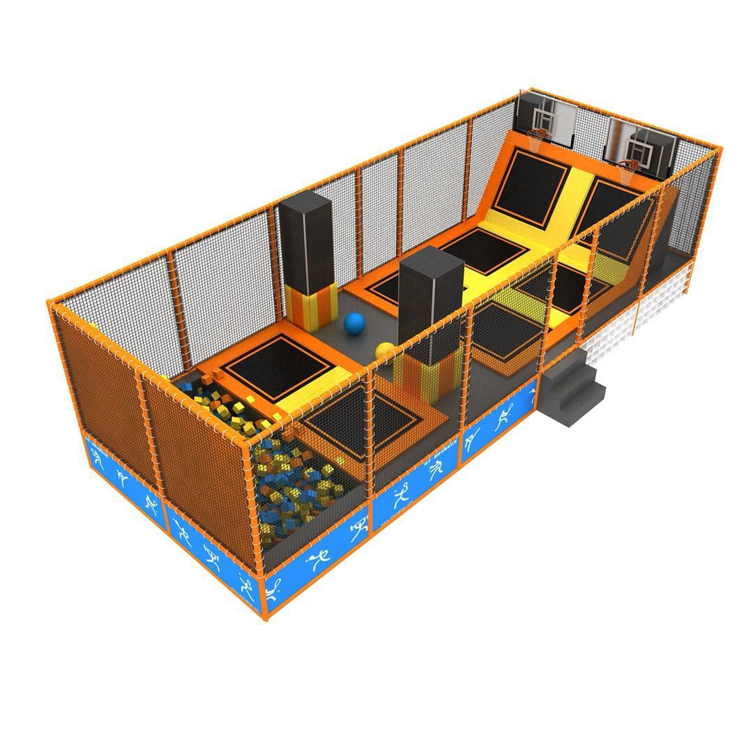 Foam Pit Basketball And Climbing Wall Of Indoor Gymnastic Trampoline Park